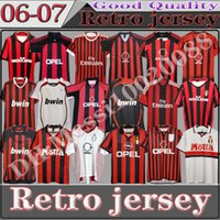 Classics 90 91 AC Milan Retro Soccer Jersey 96 97 Gullit 01 02 03 06 07 09 Maldini Van Basten Football Shevchenko Ronaldo Kaka Pirlo Inzaghi