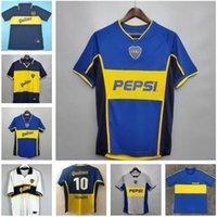 Di alta qualità Classic 97 98 Boca Juniors Retro calcio Jersey Maradona Roman Caniggia 02 Palermo Camicie da calcio Maillot Camiseta de Futbol 05 01