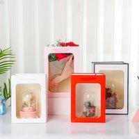 Sztuk / partia Przezroczysta torba prezentowa Przenośne pudełko Tote Bukiet Kwiat Bukiet Opakowania Pamiątek Wedding Pamiątka Kosmetyczna Opakowanie Wrap