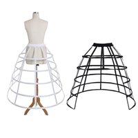 CosplayDiy Dame seltener mittelalterlicher Crinoline-Käfig Paniner Rock Frauen Ballkleid 5 Hoop Trubel Petticoat Unterkirt L320