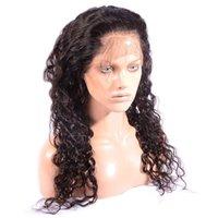 Vague profonde pincée 360 dentelle bande frontale avec baby cheveux de soie 4x4 360 bande de dentelle fermeture frontale 22.5 * 4 * 2 pour femme