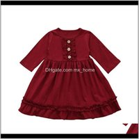 Clothing Baby, & Maternity Autumn Casual Ruffle Design Dress Baby Girls Long Sleeve Kids Pageant Princess Dresses Dot Drop Delivery 2021 Kscy