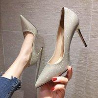 34-41 schuhe frau plus größe 9 cm luxus designer frauen high heels fein mit pailletten französisch sexy spitze schwarz silbergold kleid