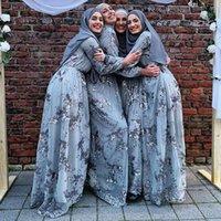 Ethnic Clothing French Italian Muslim Women's Long Skirt Saudi Arabia Abaya Costume Elegant Islamic Party Evening Dress Noble Ramadan