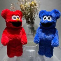 Best-Selling 400% 28CM Bearbrick Sesame Street Biscuit Monster And Aimo Plush Doll, Toy For Collectors Be@rbrick Art Work model decoration gift