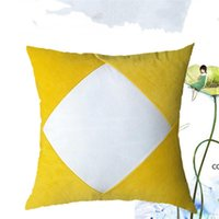 Sublimation Blanks Pillowcase Heat Transfer Printing Pillow Covers White Plain Pleuche Pillow Cushion Patchwork Plush Pillow Covers DHE8711