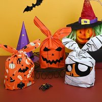 Gift Wrap 50pcs set Halloween Trick Or Treat Ear Party Candy Packaging Biscuit Sweet Handbag Cookie Bags 2 Sizes For Children Gifts