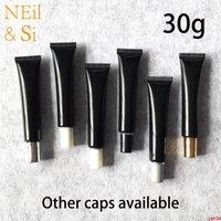 30g Boş Siyah Plastik Sıkma Şişe 30 ml Kozmetik Göz Kremi Yumuşak Tüp El Losyonu Merhem Konteynerleri Ücretsiz ShippingGood Qtys