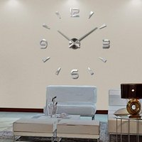 Wall Clocks 2021. Fashion Diy Watch Clock Living Room Quartz Acrylic Mirror Effect Home Decoration Modern Sticks Still Life Style