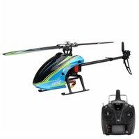 E160 6CH sem escova 3D6G Sistema Flybarless RC Helicóptero BNF RTF Compatível com Futaba S-FHSS RC Brinquedos para crianças 210325