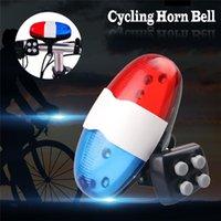 Cycling Horn Bell Bilcle 4 Tone Electronic Mountain Bike LED Light Light Light Risocco a prova di pioggia multi-funzione