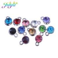 Vente en gros de 30 pcs / lot coloré cristal de naissance de pierre de naissance CZ strass Charms accessoires pour femmes hommes handicapés bijoux de bijoux de fabrication A0603