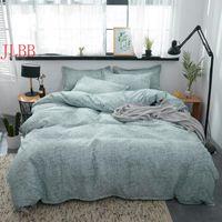 Bedding Sets Home Textile Summer Set Silver Duvet Cover Geometric Bed 3 4pcs Brief Linen + Flat Sheet