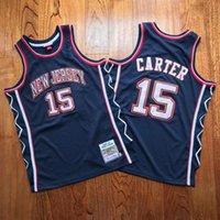 15 Vince Carter Retiro Mitchell Ness Basketball Jerseys Brodé Nom et Number Jersey