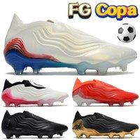 Copa Sense FG Uomo Scarpe da calcio Rosso Triple Black Gold Metallico Nube Bianco Stivali da calcio multicolore blu profondo Designer da uomo Sneakers Designer tacchetti