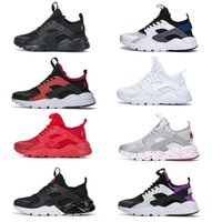 Top Quality Huarache 1.0 4.0 Homens Running Shoes Airs Stripe Vermelho Triple Balck White Rose Huaraches Executar Ultra Mulher Trainer Jogging Outdoor Designer Sneakers