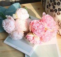 Duża Piwonia Kwiat Heads Party Wall Wedding Road LED łuk DIY Dekoracji Peonie Jedwabiu Sztuczne Kwiaty Flores Artificiales 1974 V2