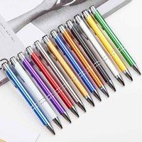 12 couleurs verre cristal kawaii stylo à bille et boutons de mode promotion publicitaire Signature Signature Office Office Fournitures