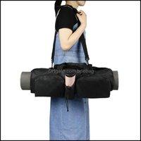 Yoga Fitness Supplies & Outdoorsyoga Mats Large Capacity Oxford Cloth Mti-Pocket Mat Storage Bag Portable Sports Backpack Cylinder Drop Deli