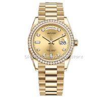 워치브 -U1 41mm 36mm 기계 자동 손목 시계 다이아몬드 망 날짜 시계 레이디 여성 방수 빛나는 시계.