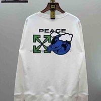 Sweats à capuche pour hommes Sweatshirts Testé Qualité Off White Blanc Protection de l'environnement Earth Round Col Pull en automne et hiver 2021 rger