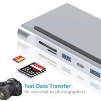 11 in 1 USB Typ C Hub Adapter Laptop Docking Station HD VGA RJ45 PD für HP Leno Vo Surfa CE Kompatibel Thunderbolt 3