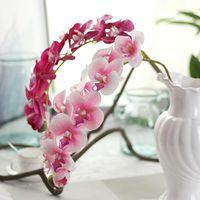 Fiori artificiali per la decorazione orchidea fiore fiore falso farfalla seta bouquet di seta faux phalaenopsis decorazione di nozze ghirlande decorative