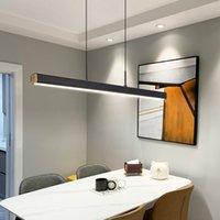 One word Pendant Lamps minimalist dining room chandelier modern long strip luxury bar table lamp office light