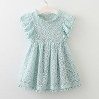 Girls Dress Fashion Tassel Hollow Design Baby Princess Dress...