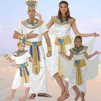 Umorden Adult Kids Egypt Nile Pharaoh Cleopatra Costume for Women Men Boys Girls Family Halloween New Year Party Fancy Dress Q0910