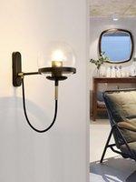 Loft Nordic Decoration Home Crystal Bedroom Light Wall Lights Led Mirror Bedside Living Room Lamp