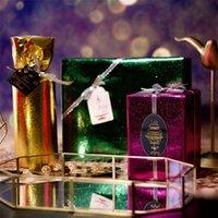 Altre arti e mestieri Natale glitter regalo regalo carta da imballaggio in metallo colore solido a colori luminoso film di nozze compleanno flower packaging 50 * 70 cm ewd7781