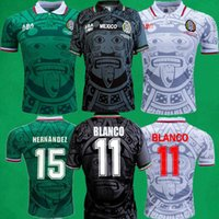 86 94 95 98 06 Mexiko Retro Fußball Jersey Home Football Hemden 1998 Männer Vintage Blanco Hernandez Campos Kurzarm Sport Uniformen Camiseta Futbol