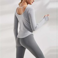 Tracksuits Alo suit Women's sportswear fitness running Yoga long sleeve top slim casual