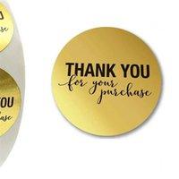 """Round Gold """"Merci pour votre achat"""" Stickers Stickers Labels de 500 étiquettes Stickers Stickers Scrapbooking pour l'autocollant de papeterie 374 R2"""