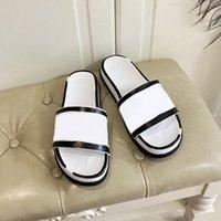Männer Frauen flache Hausschuhe Triple Black White Leder Slides Herren Mode Slipper Home Flip Flops Casual Sandals Womens Mules mit Box