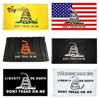 Dont Tread on Me Snake 90*150 Trump Flag 3*5 Feet 2024 USA Presidential Election Flags Garden Banners