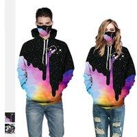 Мужские 3D Цифровые толстовки Мода Мальчики Hiphop Толстовки с капюшоном с маслом Картина Картина Картина Случайный парень Унисекс