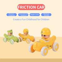 6 unids Fricción de dibujos animados Pequeña fruta coche bebé tirón y peluche juguetes deslizantes lindo plátano para niños niños regalo educativo