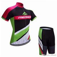 Merida Team Cycling Manica corta Jersey (Bib) Pantaloncini set 2018 Nuovo Gel MTB imbottito di alta qualità Ropa Ropa Ciclismo Hombre C1707