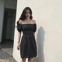 Casual Dresses Summer Sexy Off Shoulder Beach Dress Puff Sleeve Dots Elegant A-line Women Club Vacation Prom Outfits