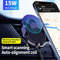 Car Phone Holder Wireless Charger Magnetic Infrared Sensor 15W Fast Charging Universal Air Vent Mount Smartphone Stand Cellphone Bracket For iPhone 12