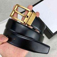 Moda dos homens de cinto de alta qualidade Classic Black Brown 3.4cm de largura com caixa de presente 1Mjoh