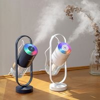 Essential Oils Diffusers Humidifiers magic shadow small household colorful night light car air purifier gift LRAS