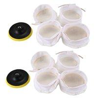 Car Sponge 10Pcs Polisher Buffer Kit Soft Wool Bonnet Pad White:4 Inch