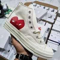 Classic Skate Shoes Chuck Canvas Play Jointly Big Eyes High Top Dot Heart Women Men Fashion Sneakers Chaussures
