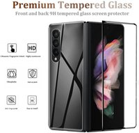 For Samsung Z Fold 3 5G Screen Protector 3D Curved Tempered Glass Film Front+Back Silk Printing Compatible With Galaxy Fold3
