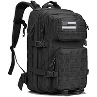 Venta personalizado al aire libre impermeable Senderismo Survival Bag Black Militar Militar Mochila Táctica