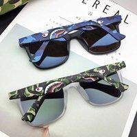 Japanische Mode-Marke Camouflage Stereo Shark Gläser Chaoren polarisierte Sterne gleiche Sonnenbrille für Männer und Frauen fahren