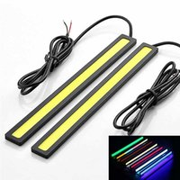 1pc COB LED Car Lamp External Lights Auto Waterproof Car Styling Daytime Driving Fog Lamps Vehicle Running Light Gadgets